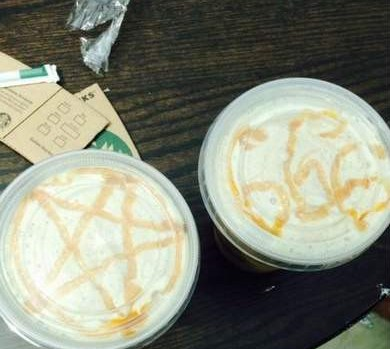 Screenshot of Megan Pinion's photo posted to Starbucks' Facebook page.